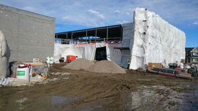 February 15 - Preparation for pouring the main floor slab