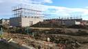 November 9 - Gym block walls going up